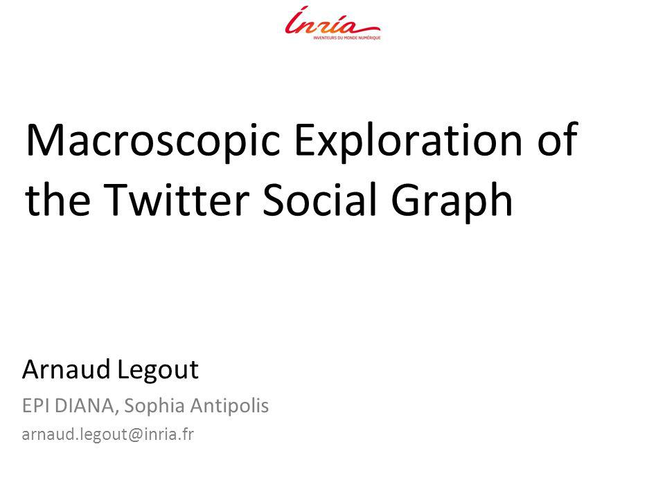 Macroscopic Exploration of the Twitter Social Graph