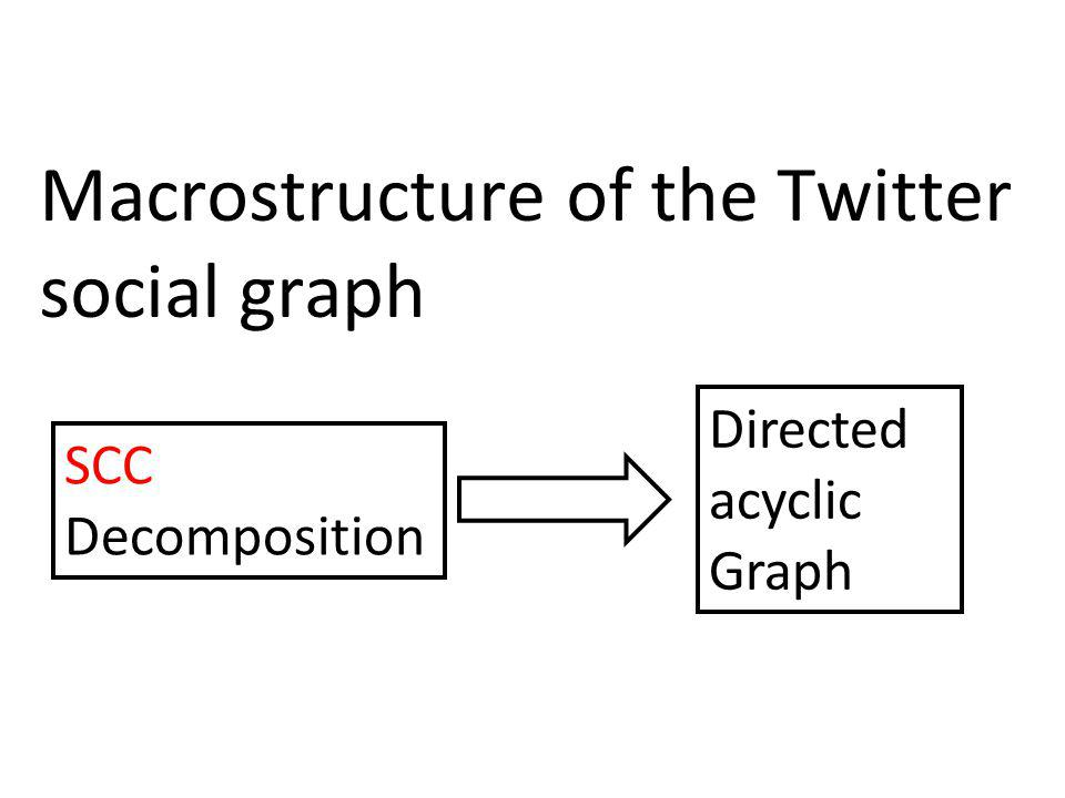 Macrostructure of the Twitter social graph