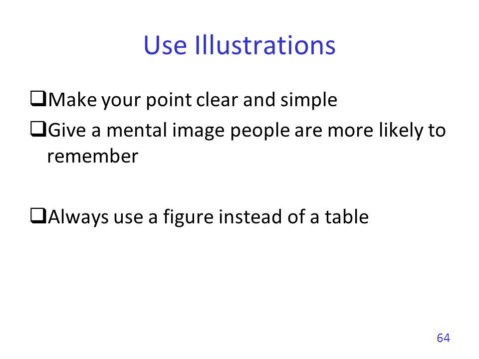 Use Illustrations Make your point clear and simple