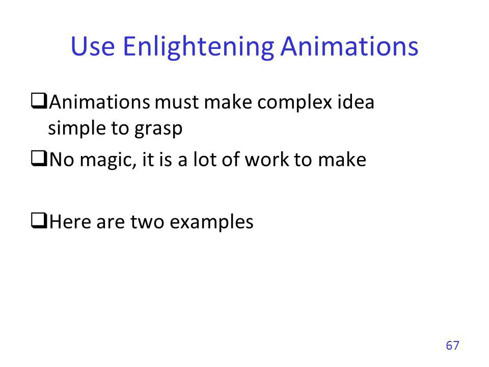 Use Enlightening Animations