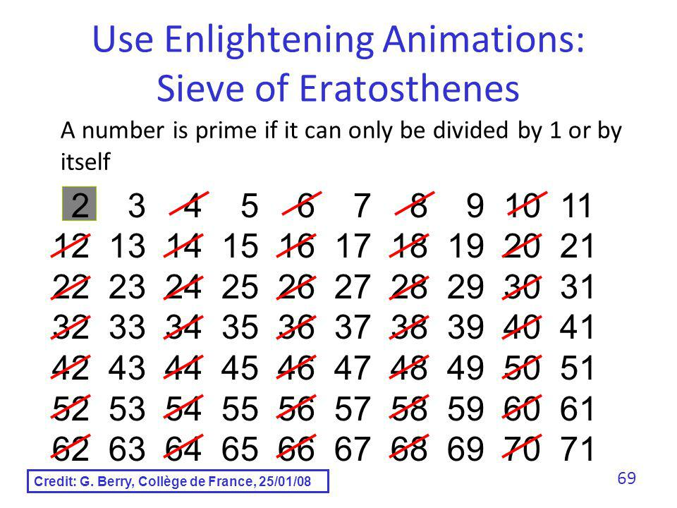 Use Enlightening Animations: Sieve of Eratosthenes
