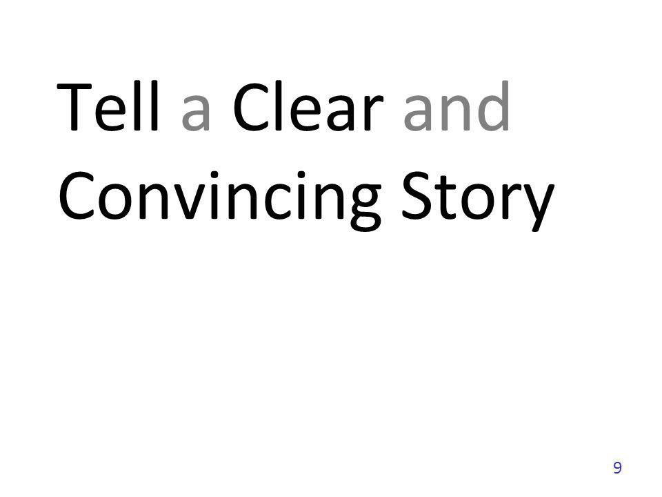 Tell a Clear and Convincing Story