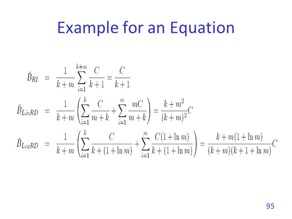 Example for an Equation