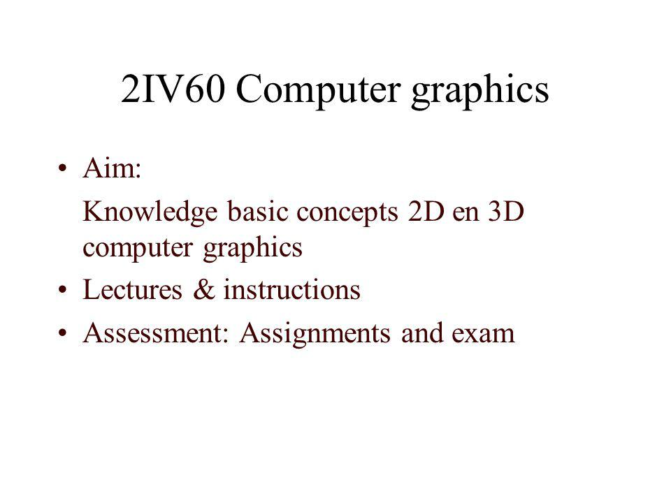 2IV60 Computer graphics Aim: