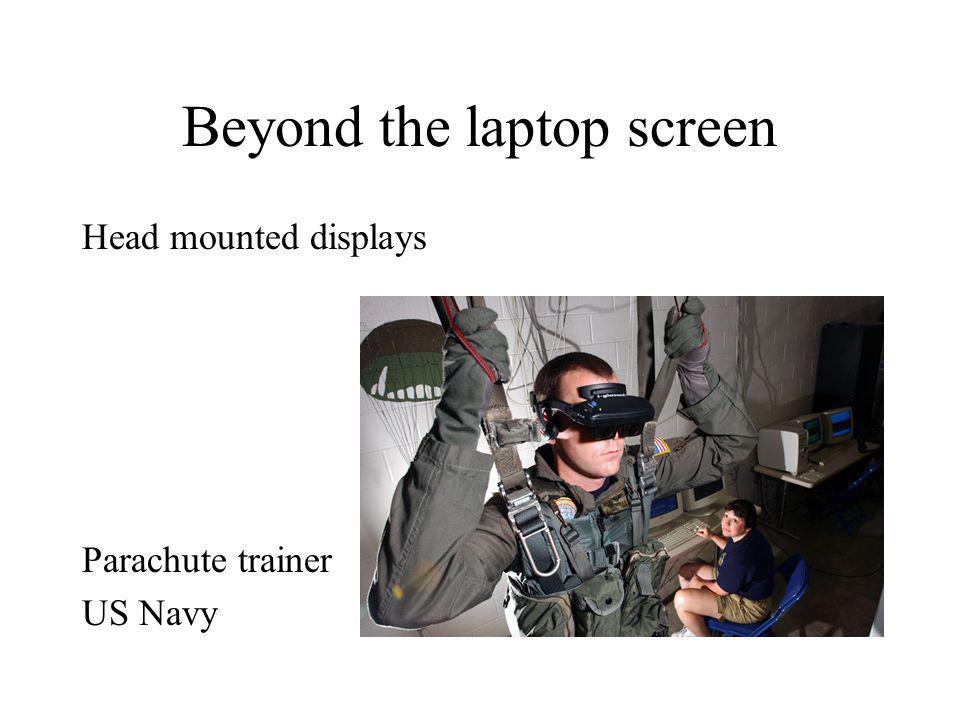 Beyond the laptop screen