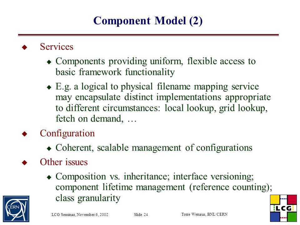 Component Model (2) Services