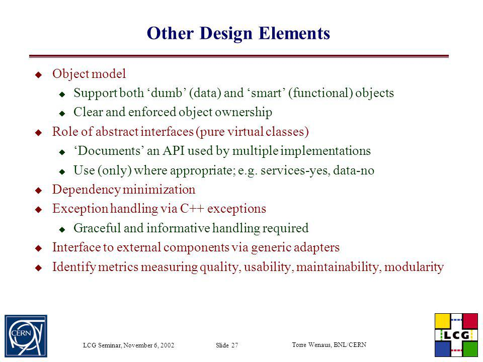 Other Design Elements Object model