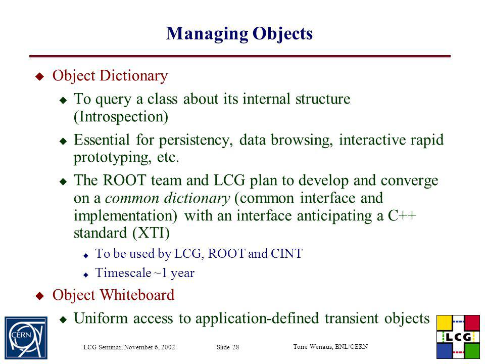 Managing Objects Object Dictionary