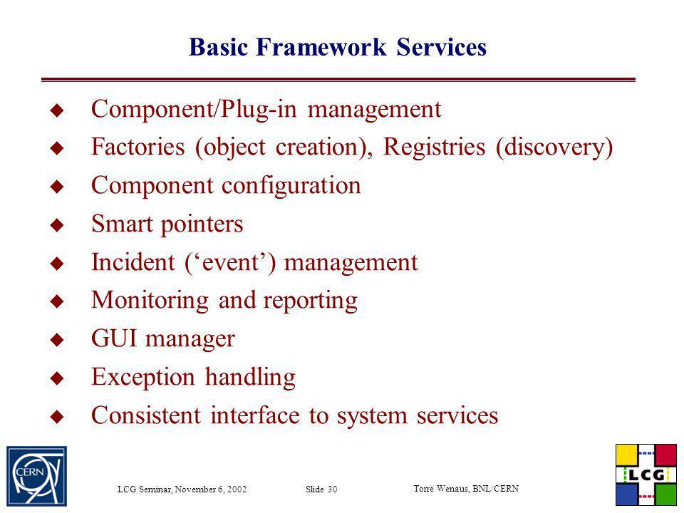 Basic Framework Services