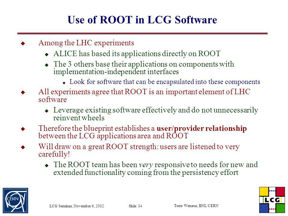 Use of ROOT in LCG Software