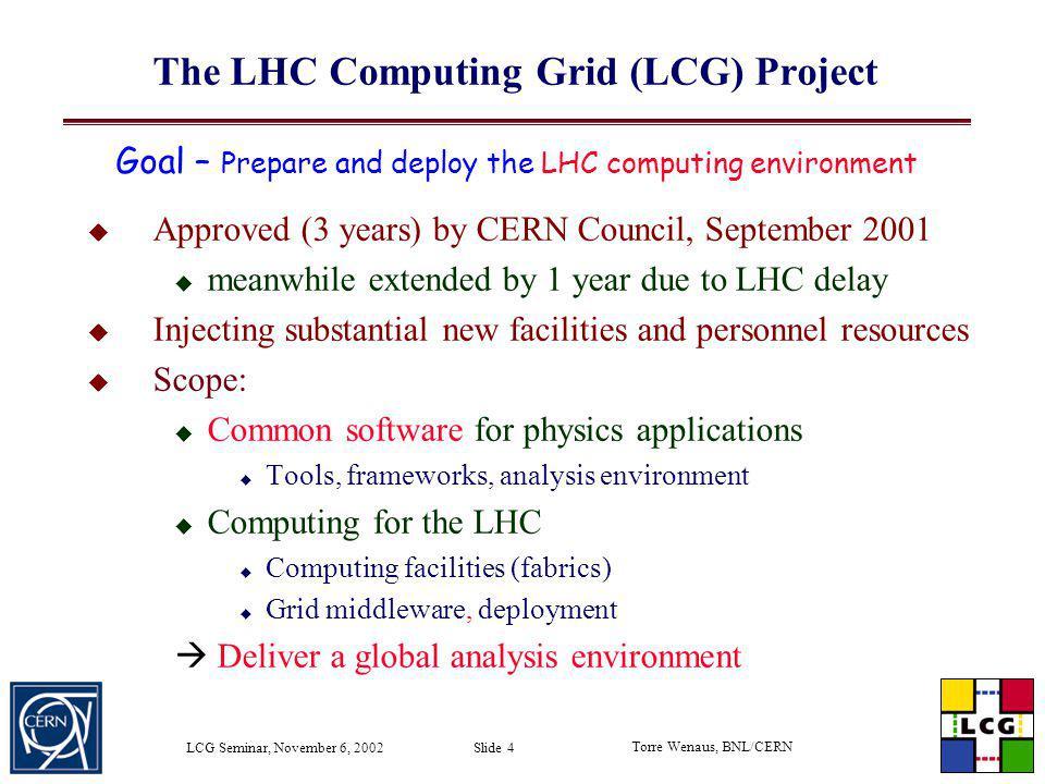 The LHC Computing Grid (LCG) Project