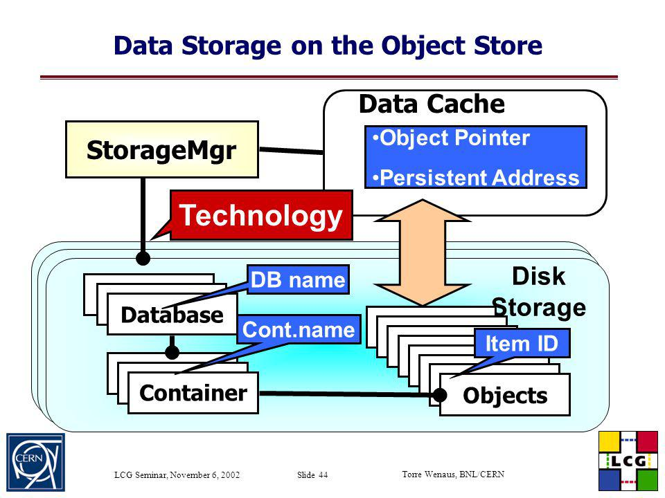 Data Storage on the Object Store