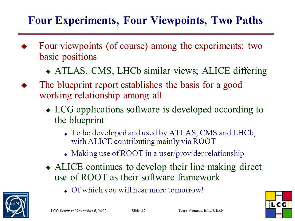 Four Experiments, Four Viewpoints, Two Paths