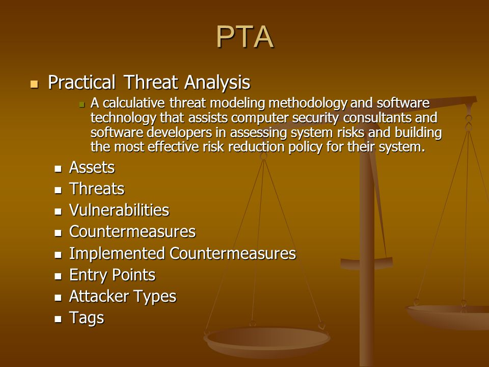 PTA Practical Threat Analysis Assets Threats Vulnerabilities