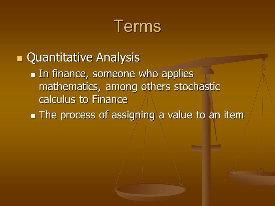 Terms Quantitative Analysis