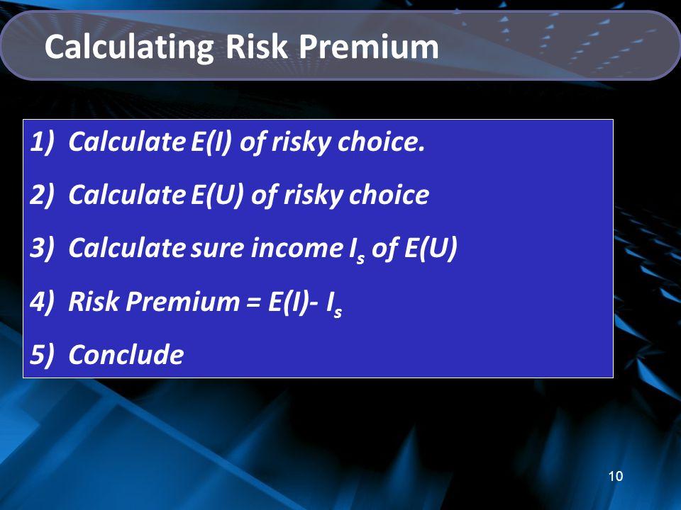 Calculating Risk Premium