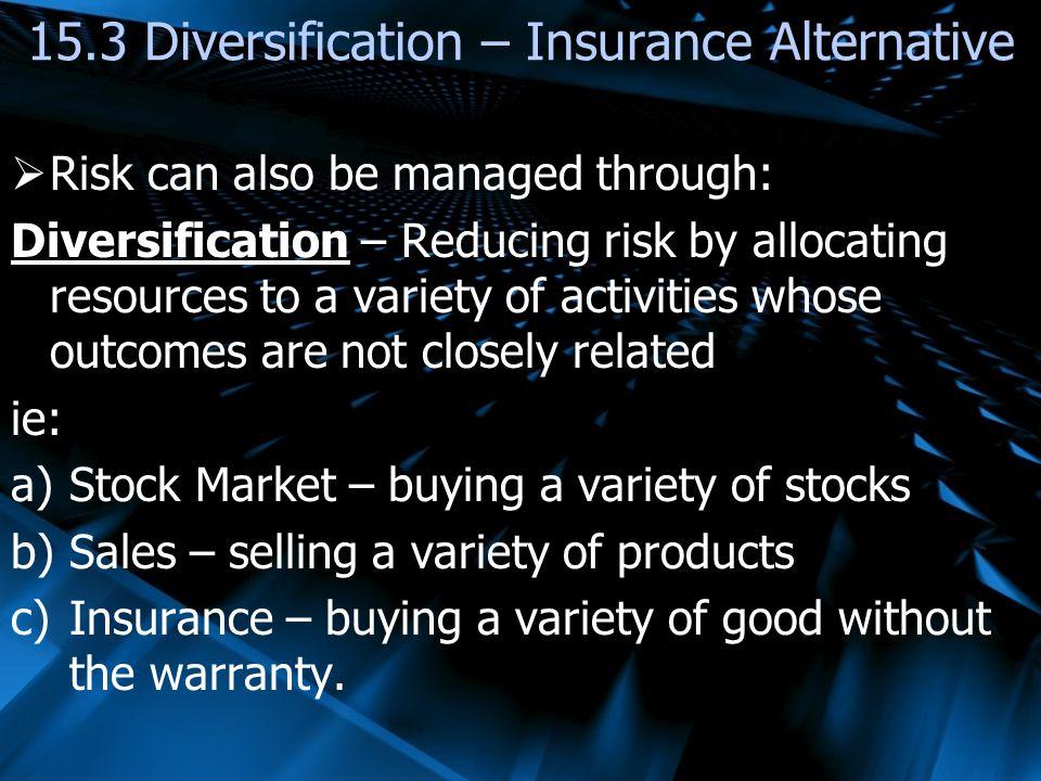 15.3 Diversification – Insurance Alternative