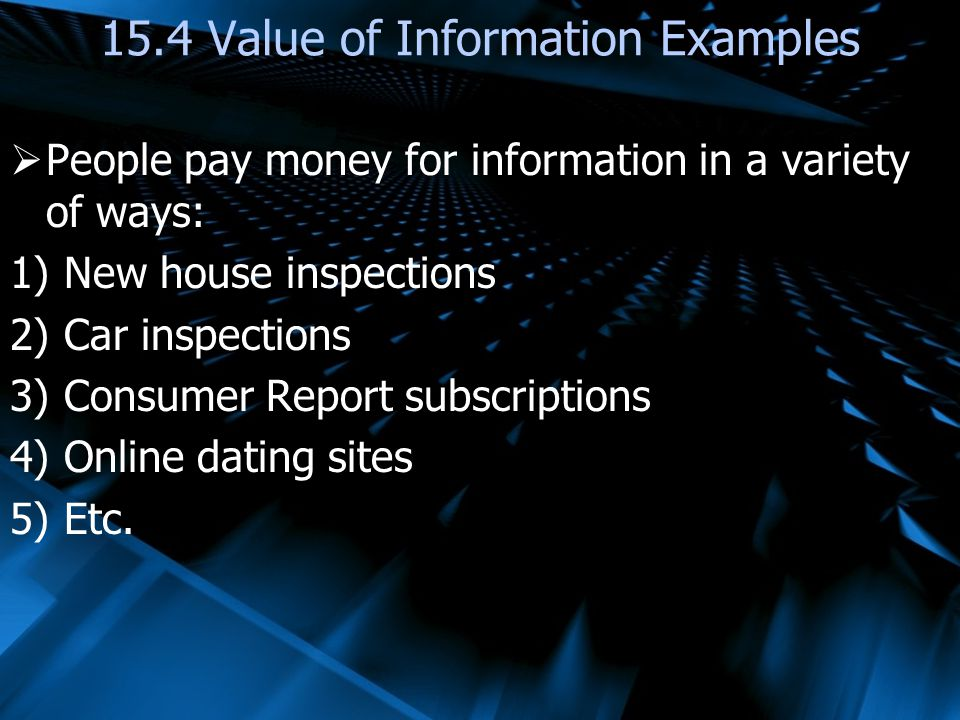 15.4 Value of Information Examples