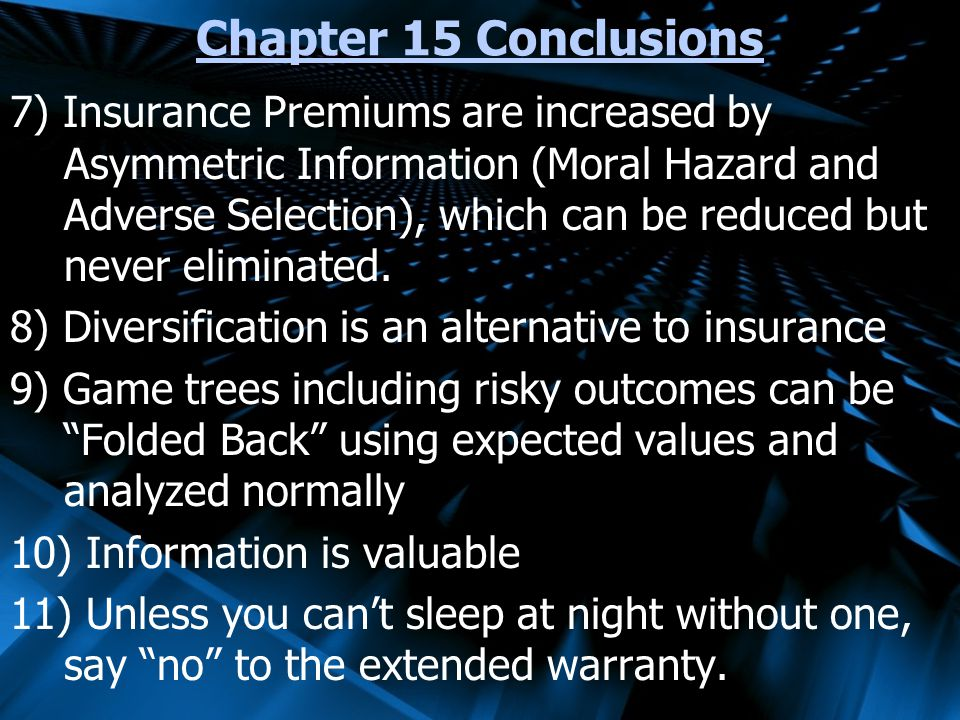 Chapter 15 Conclusions