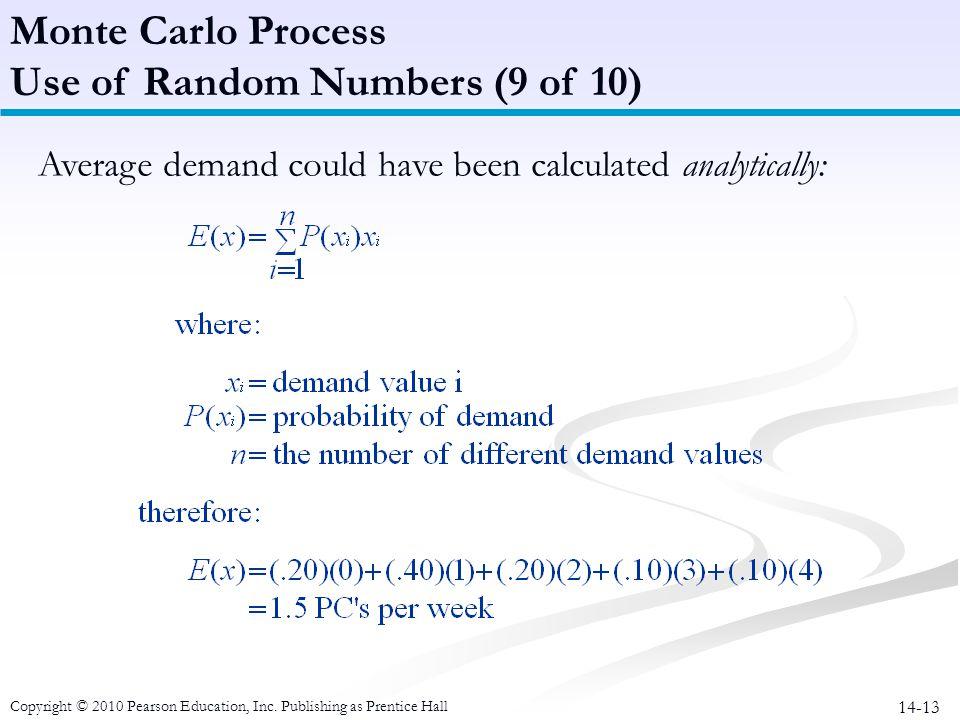 Use of Random Numbers (9 of 10)