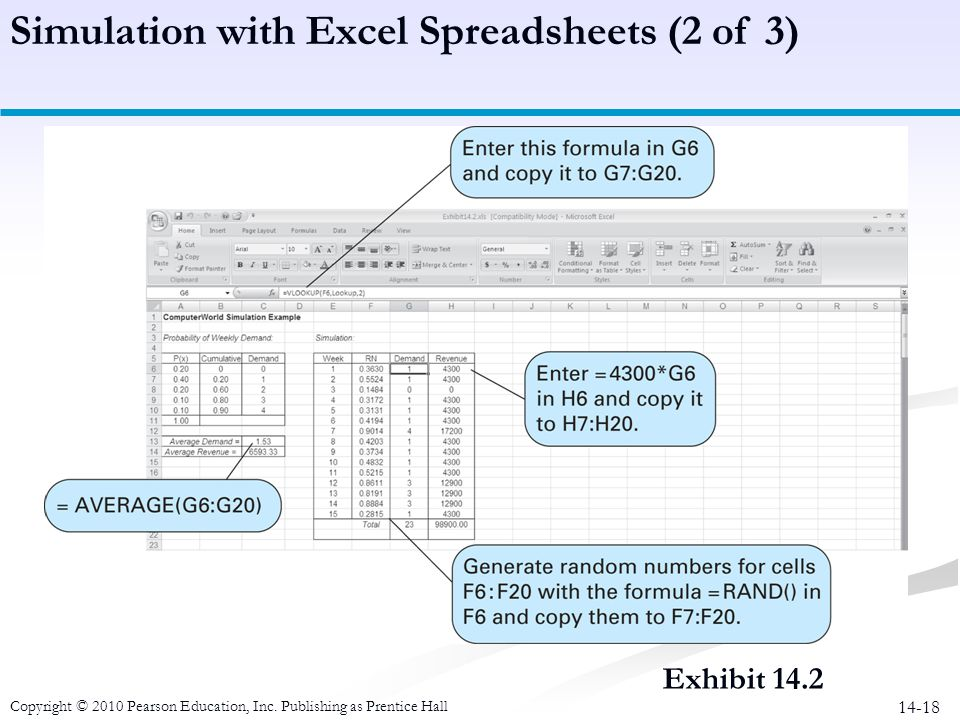 Simulation with Excel Spreadsheets (2 of 3)