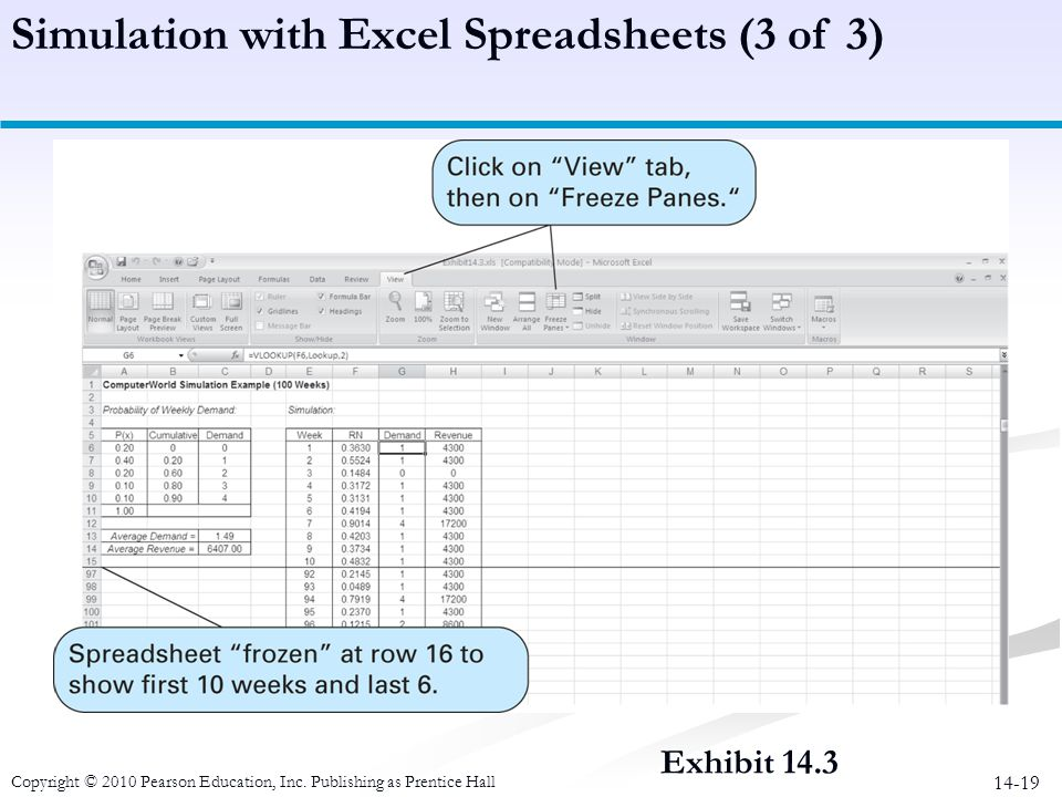 Simulation with Excel Spreadsheets (3 of 3)