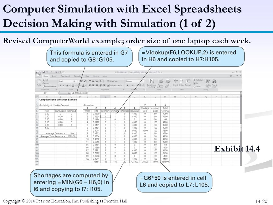 Computer Simulation with Excel Spreadsheets