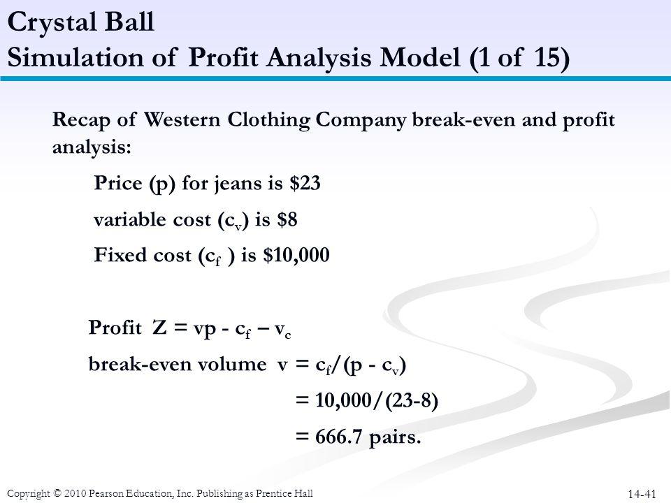 Simulation of Profit Analysis Model (1 of 15)