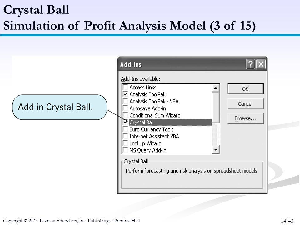 Simulation of Profit Analysis Model (3 of 15)