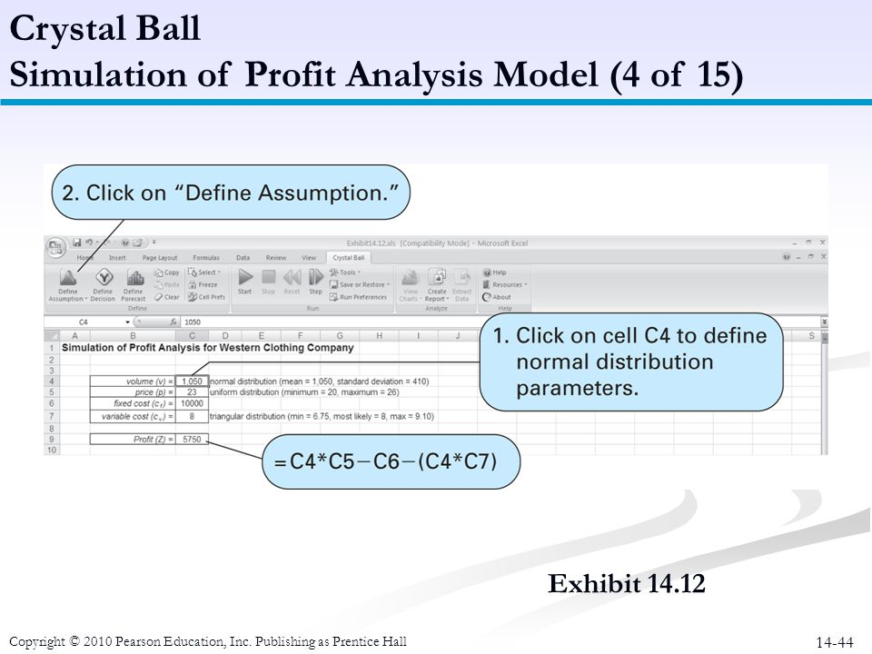 Simulation of Profit Analysis Model (4 of 15)