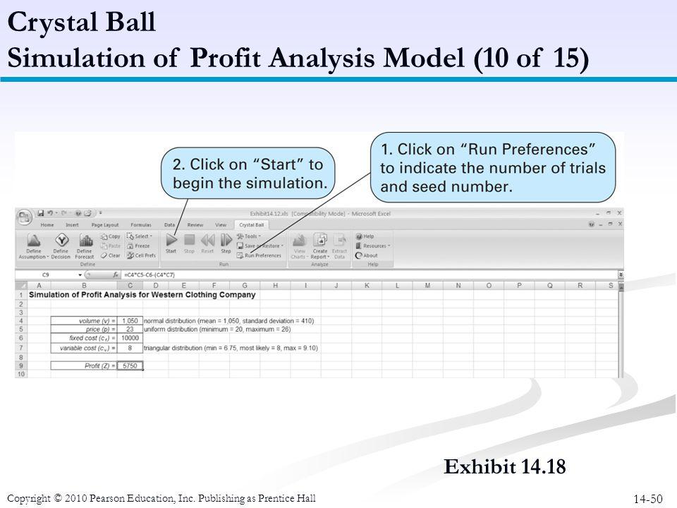 Simulation of Profit Analysis Model (10 of 15)