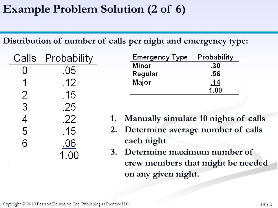 Example Problem Solution (2 of 6)