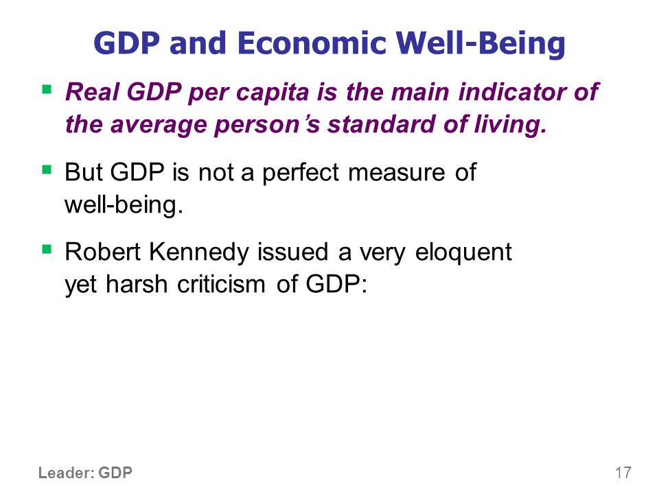 Gross Domestic Product…