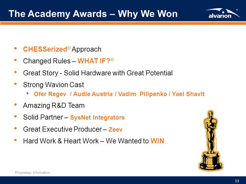 The Academy Awards – Why We Won