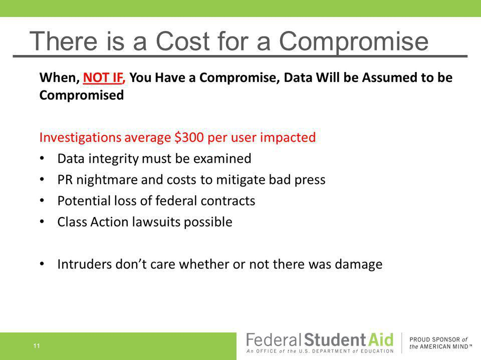 There is a Cost for a Compromise