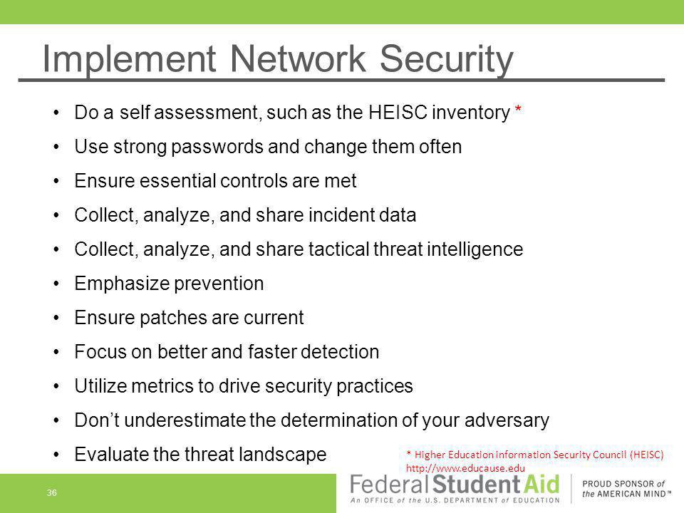 Implement Network Security