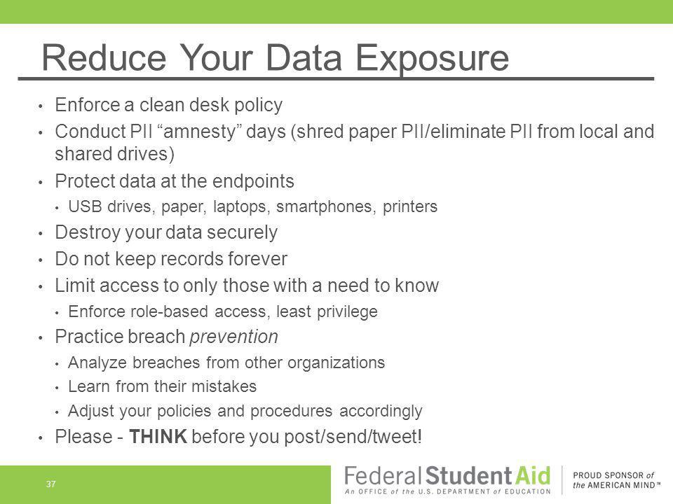 Reduce Your Data Exposure