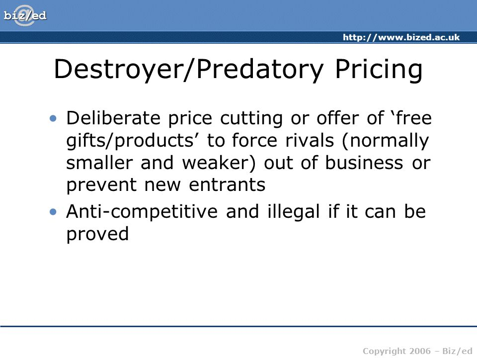 predatory pricing Predatory pricing latest breaking news, pictures, videos, and special reports from the economic times predatory pricing blogs, comments and archive news on economictimescom.