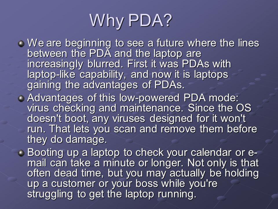 Why PDA