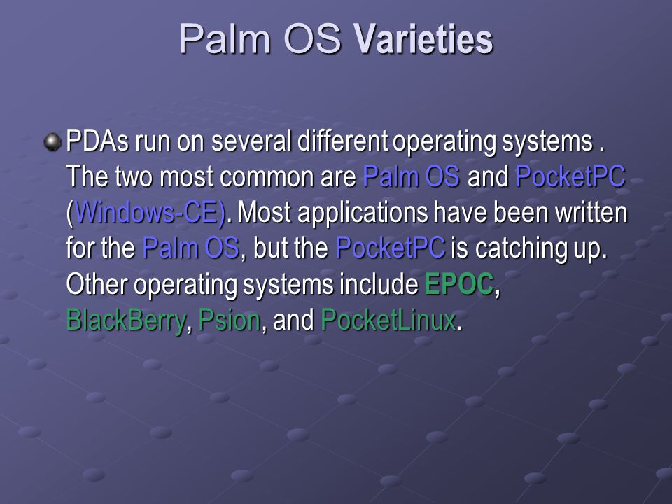 Palm OS Varieties