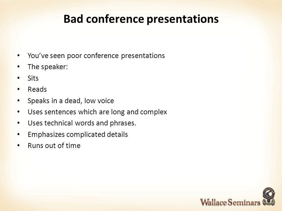 Bad conference presentations