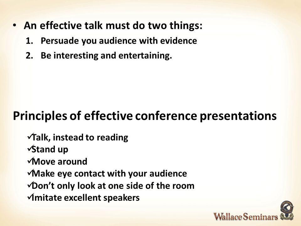 Principles of effective conference presentations