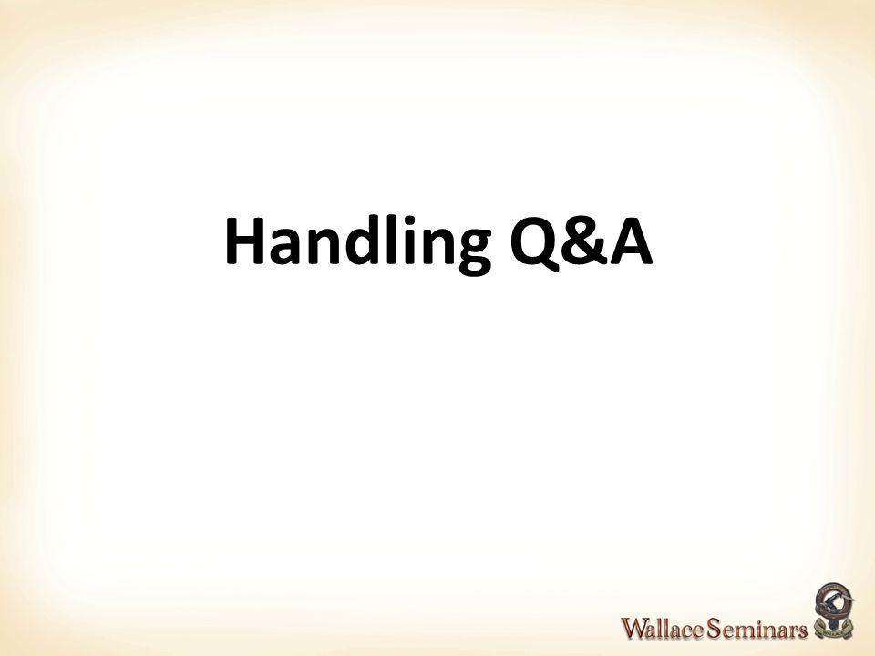 Handling Q&A 62 62
