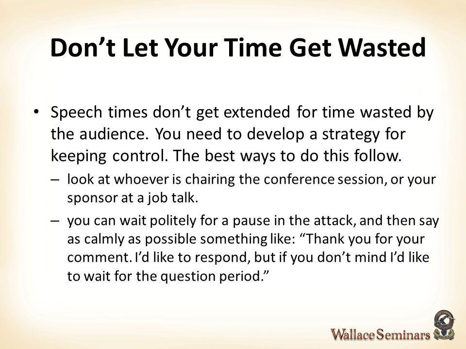 Don't Let Your Time Get Wasted