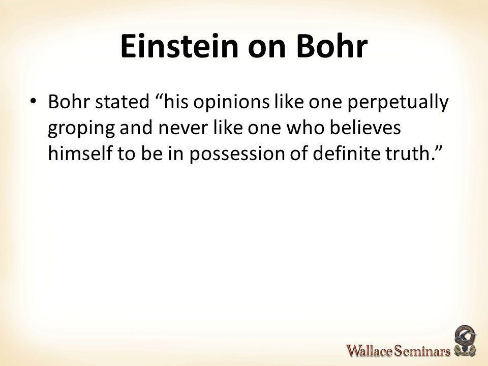 Einstein on Bohr