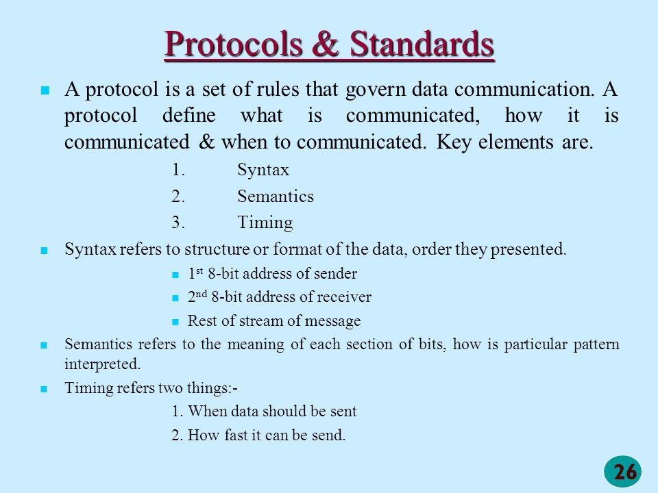 Protocols & Standards