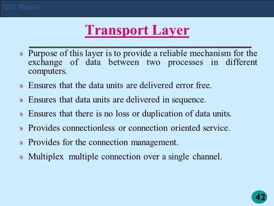 OSI Model Transport Layer.