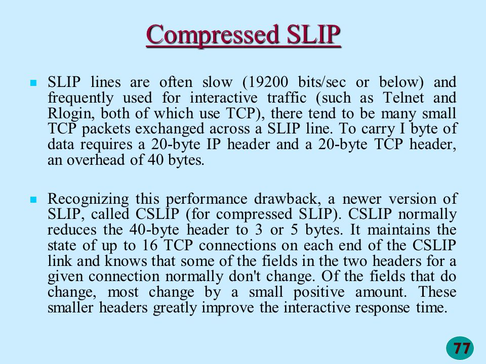 Compressed SLIP