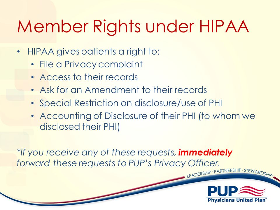 Member Rights under HIPAA