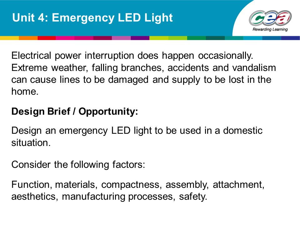 Unit 4: Emergency LED Light